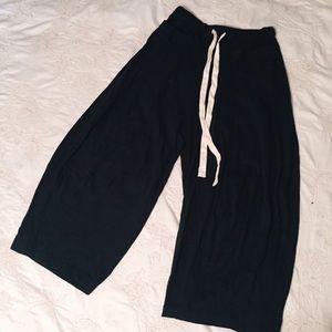 NEW FREE PEOPLE FP MOVEMENT Sz XL ROCCO WIDE LEG SWEAT LOUNGE PANT BLACK
